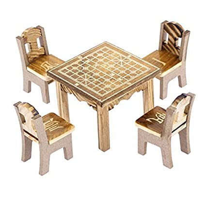 Amazon.com: eDealMax de Madera ajedrez Chino Impreso Home Decor ...