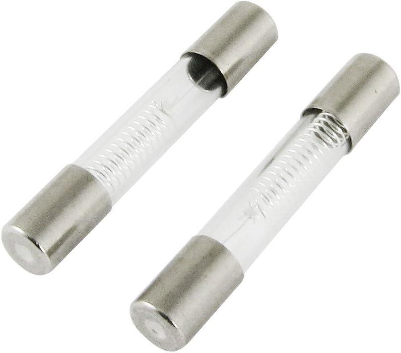 2 piezas para microondas y hornos 0,8 A 5KV 6 mm x 40 mm tubos fusible de alto voltaje