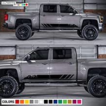 Decal Sticker Vinyl Side Stripe Kit Compatible with Chevrolet Silverado 2014-2017 High Country