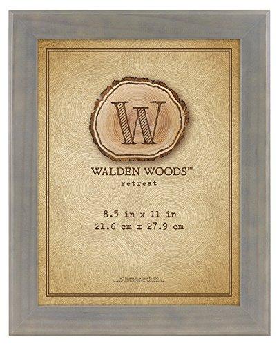 MCS Walden Woods 8.5x11 Inch Essentials Wide Frame, Gray