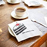 getDigital Napkins The Cake is a Lie, Inspired by The Computer Game Portal | Set of 20 Geeky Tissue Napkins with Black and White Print | 12.99 inch, 3-ply