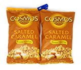 cosmos salted corn - Cosmos Creations Premium Puffed Corn 2 Pack, Gluten Free, Non GMO Snack, Bonus One HG Grocery Bag Clip (Colors Vary) (Salted Caramel, 14 Ounce)