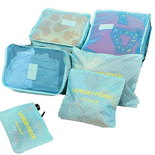 Shopper Joy Reisegepäck Organizer Taschen Kofferorganizer 6-er Sets - Grün