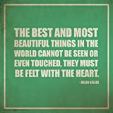 Best Culturenik Things - Helen Keller Beautiful Things Inspirational Motivational Quote Poster Review