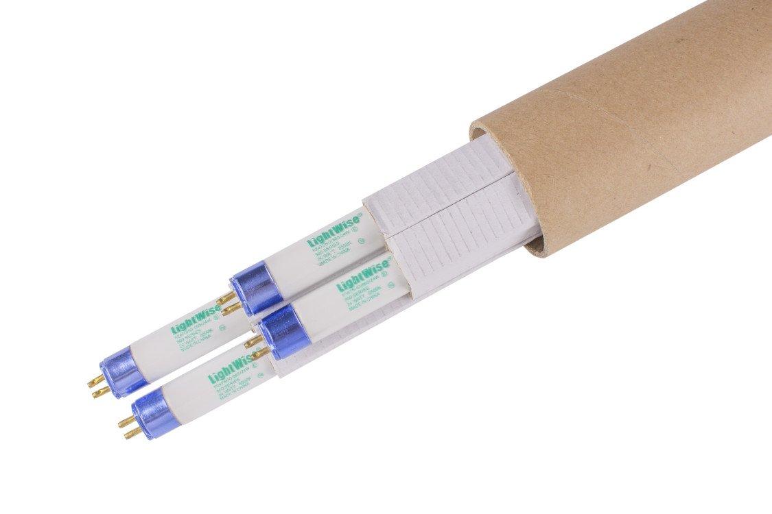 Lightingwise 4 FT 6500K T5 HO Fluorescent Grow Light Bulbs - Pack of 1,4,8,20,40 (4, 6500k - blue - veg)