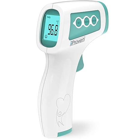 para fiebre ni/ños y beb/és Term/ómetro infrarrojo sin contacto para adultos sin contacto para la frente term/ómetro