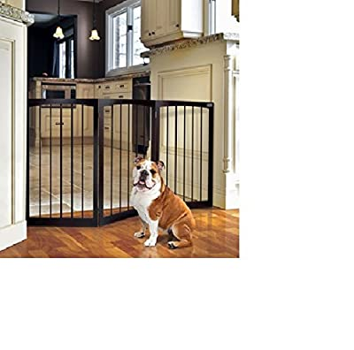 Free Standing Wooden Pet Gate! On Sale! It Has Limited Access to Certain Parts in Your Home. Theses Dog Gates of Any Type Have No Problems Without Any Required Installation! It's Easy to Store w/ This Portable Dog Fence! Satisfied! Guaranteed or Else!