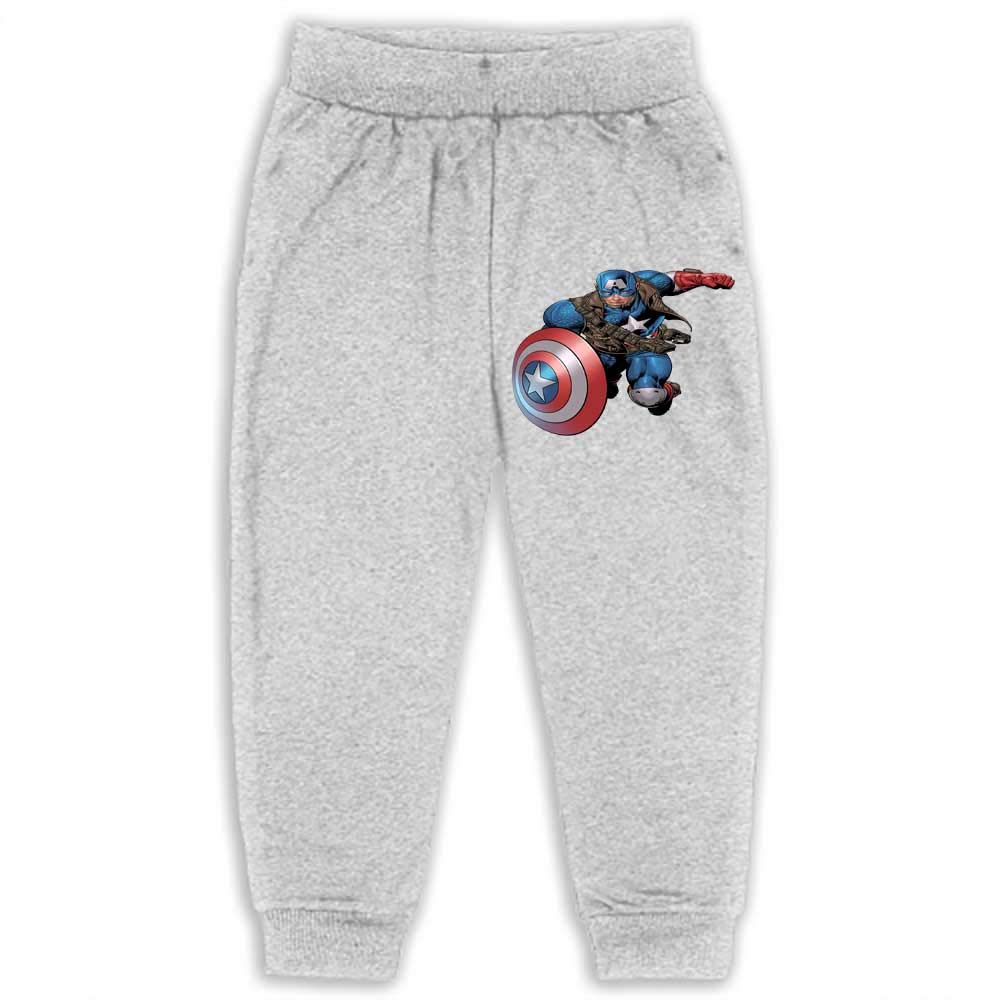 Grey Sweatpants Youth Casual Clothing Jogging Pants Captain America 2T_Grey