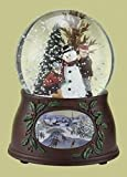 "5.5"" Musical Snowman and Kids Winter Scene Christmas Snow Globe Glitterdome"