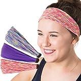 Hipsy Women's Adjustable & Stretchy Xflex Bright Yoga Headband Gift Packs (Multi/Purple/Neon 3pk) Review