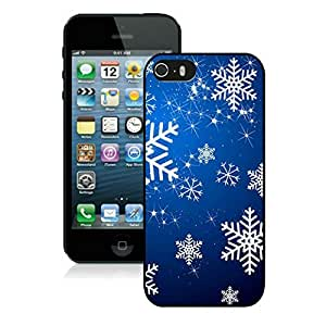 Iphone 5s case,iphone 5 case,Christmas snowflake Iphone 5/5s Case Black Cover