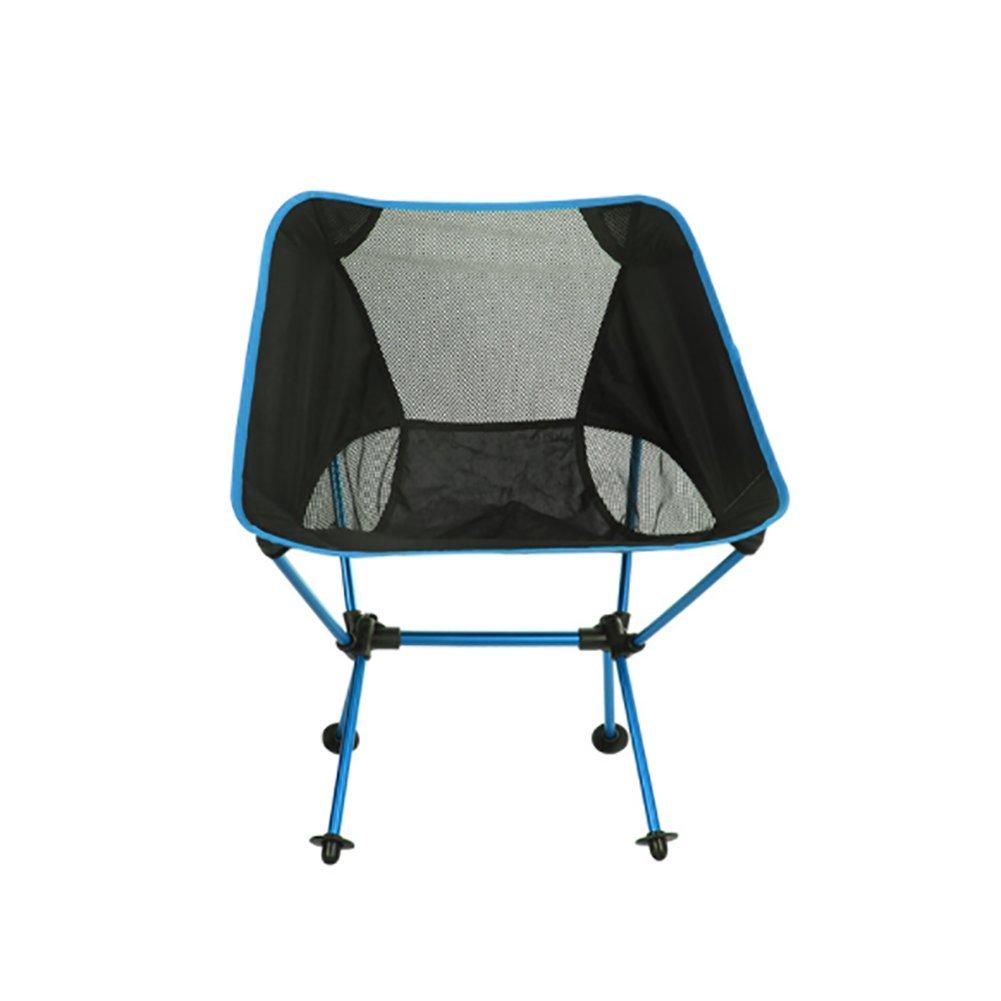 KOSHSH Camping Klappstuhl Im Freien Portable Moon Stuhl Ultra Light Aluminium Angeln Stuhl Freizeit Skizze Stuhl