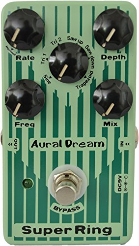 Modulators Series (Aural Dream Super Ring Guitar Effects Pedal with 2 Ring modes and 6 waves simulating Tubular Bell,Chime and Bells sound,true bypass)