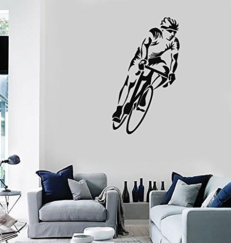 Large Wall Stickers Vinyl Decal Sport Bike Race Cycling Cyclist (ig221) Flame Red