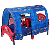 Disney Cars Durable Toddler Bed with Tent and 2 Secure Side Rails