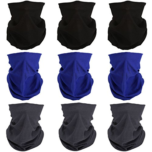 (GraceMe Headwear Bandana Multifunction Magic Motorcycle Outdoor Sport Seamless Colorful Skull Tube Half Face Mask Neck Cove Wrap Headband Scarf)