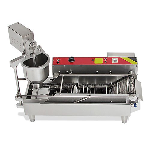 Genmine Automatic Donut Making Machine Commercial Electric Auto Doughnut Donut Maker Machine Auto Donuts Frying Molding Turning Collecting Fryer Factory 110V (Can Making 3 Sizes Donut) by Genmine