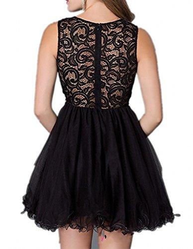 La Dunkel Abendkleider Spitze Tanzenkleider Abschlussballkleider Cocktailkleider mia Braut Mini Lila Promkleider Kurzes 6R6nfrv