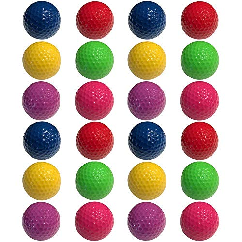 - Infusion Miniature Golf Balls - Colored Mini Golf Balls - 24 Pack, Red, Yellow, Blue, Purple, Green, Pink Color Balls (4 Each)