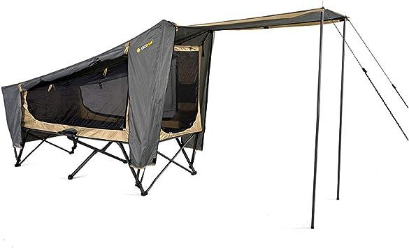 OZtrail Catre de Camping con Tienda y toldo. Easy Fold Stretcher Tent Single Capacidad 150kg 200x80cm 12.5kg Camilla de Acampada con Tienda