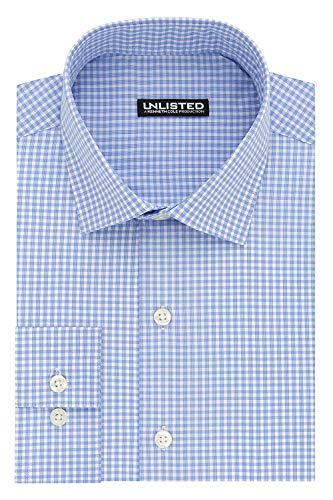 Unlisted by Kenneth Cole Men's Slim Fit Check Spread Collar Dress Shirt