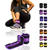 Xn8 Sports Neoprene Ankle Weights Wrist Weights Black Adjustable Strap Resistant Leg Wrist Running Cross Fitness Gym Training Exercise (Purple:, 3Kg Set = (3 * 2 = 6Kg))