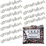 Confetti Word Congratulations Silver - One Pound Bag (16 oz) Free Priority Mail --- (CCP7837)