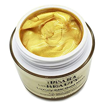Premium 24K Gold Facial Mask – Rejuvenating Anti-Aging Face Mask for Flawless Skin – Remove Fine Lines, Clears Acne, Moisturizers, Hydrates and Leaves The Skin Radiant – By Pi ARA Beauty
