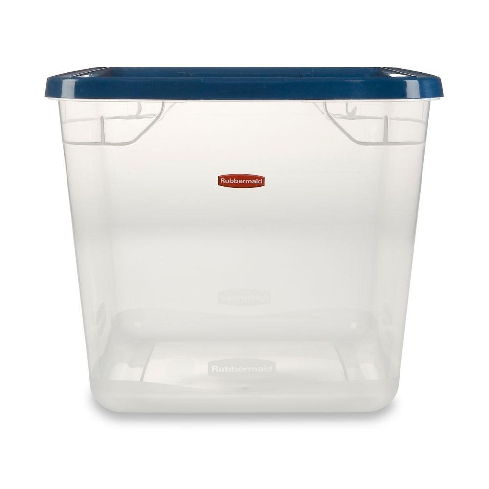 Rubbermaid Storage Container FG3Q2700CLRCB, 30-Quart