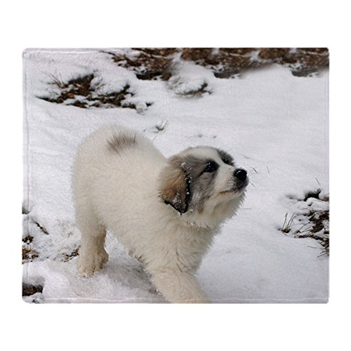 Puppies Fleece Blanket (CafePress - Great Pyrenees Puppy - Soft Fleece Throw Blanket, 50