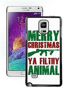 Custom-ized Design Merry Christmas Black Samsung Galaxy Note 4 Case 20