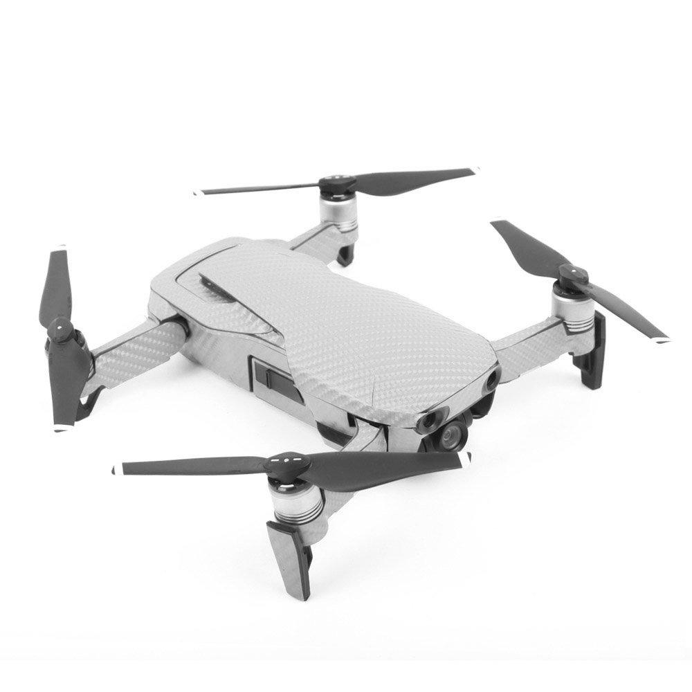 Owoda DJI Mavic AIR Corps de Drone /& Contr/ôleur Autocollants Imperm/éable D/écalques de Grain de Carbone 3M Anti-Rayures Peau protectrice 3M Argent