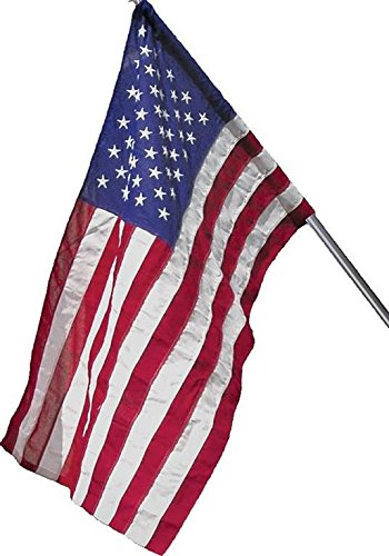 Wilbork American Flag (Pole Sleeve) - 100% Made in USA - Strong Like Americans Made by Americans: Embroidered Stars - Sewn Stripes - 3x5 ft Outdoor - Art American 3 Light