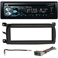 Pioneer DEH-X4800BT Bluetooth In-Dash CD Car Stereo Audio Receiver Bundle Combo W/ Metra 996503 Installation Kit For 1998-Up Chrysler/Dodge/Jeep Vehicles + Antenna Adapter Cable + Radio Wiring Harness