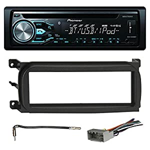 pioneer deh x4800bt bluetooth in dash cd car stereo audio receiver bundle combo w. Black Bedroom Furniture Sets. Home Design Ideas