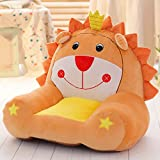 MeMoreCool Cartoon lion Small Sofa,Cute Children Sofa Chair Seat.Anti-Skidding Tatami Chair,Baby Chair,Birthday Gifts for Boys and Girls,Orange