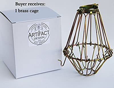 Industrial Vintage Style Hanging Pendant Light Fixture Metal Wire Cage , Lamp Guard, Adjustable Cage Openings to Different Styles ...