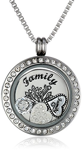 Charmed Lockets My Family My Love Pendant Necklace with