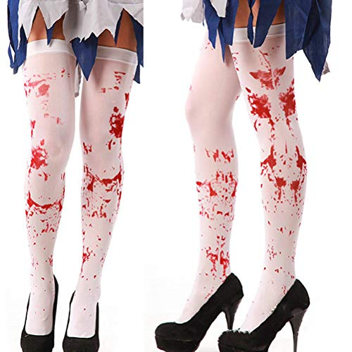 Accessories Accessories - 1pcs Girls Knee Socks Blood Printed Halloween Stockings Over The Thigh Sexy Meia Festival - Accessori Accessories Girls -