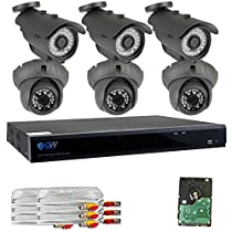 GW Security 8 Channel 5 in 1 XVR 6 x 4MP 1520P 3.6mm Lens Security System 2T HD