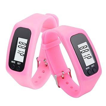 Conquro LCD Neutral podómetro Reloj Digital Paso Caminar Distancia Contador de calorías Reloj Pulsera (Rosa): Amazon.es: Deportes y aire libre