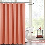 Coral Shower Curtain jinchan Water-Repellent Fabric Shower Curtain Coral Pink Waffle Weave with Rust-resistant Metal Grommets Top Shower Curtain for Bathroom, 70x72 Inch