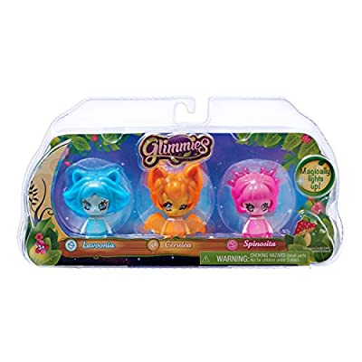 Just Play Glimmies Collector Pack-Lavoonia, Cerulea, Spinosita: Toys & Games
