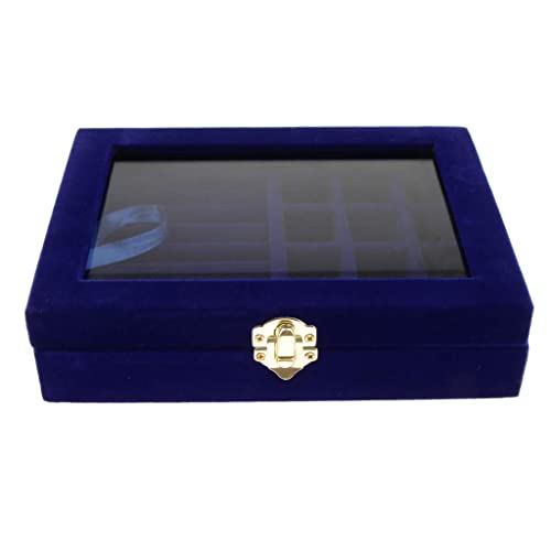 695398f80 F Fityle Organizador de Bisutería de Terciopelo Caja Estuche de Exhibición  Colección para Collares Anillos Pendientes - Azul Oscuro: Amazon.es: Joyería