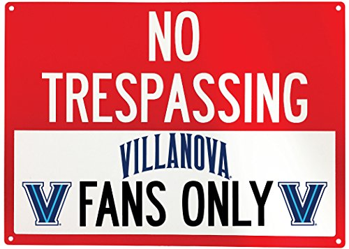 (NCAA No Tresspassing-Fans Only Metal Sign-Licenced College Fans Sign (Villanova Wildcats))