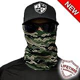 Salt Armour Face Mask Shield Protective Balaclava Bandana MicroFiber Tube Neck Warmer Green Camo Military