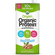 Orgain Organic Protein Almond Milk Unsweetened Vanilla, 32 Ounce (Pack of 6)