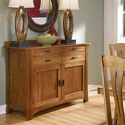 Sideboard in Warm Amber Finish - Mission Buffet