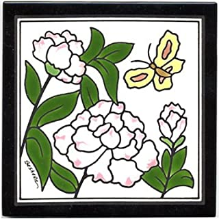 product image for Peony Tile, Peony Wall Plaque, Peony Trivet
