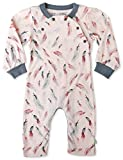 Finn + Emma Organic Cotton Coverall Jumpsuit for Baby Boy or Girl – Feather, 9-12 Months